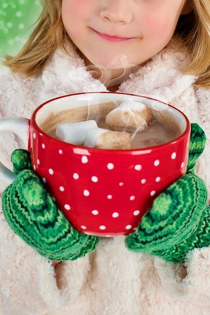 Вкусен горячий шоколад зимой