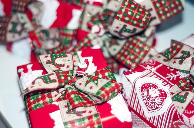 Новогодний подарок с необычным оформлением