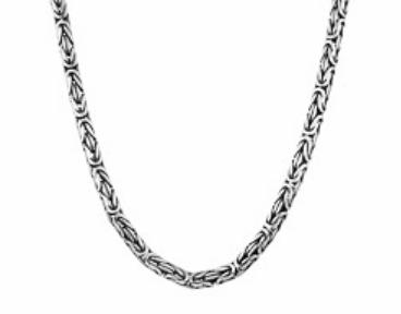 Мужская цепь с черненым серебром