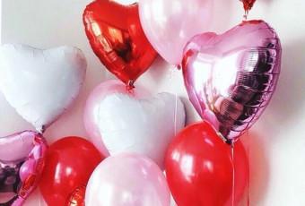Воздушные шары на день влюбленных